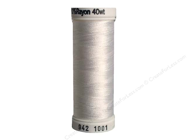 Sulky Rayon Thread 40 wt. 250 yd. #1001 Bright White