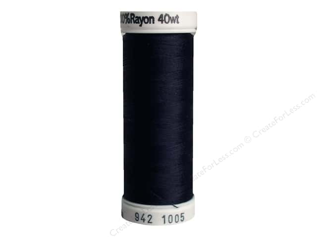 Sulky Rayon Thread 40 wt. 250 yd. #1005 Black