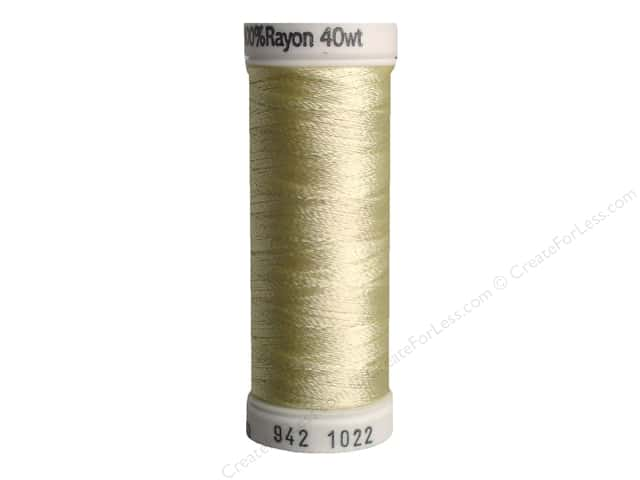 Sulky Rayon Thread 40 wt. 250 yd. #1022 Cream