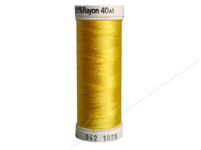 Sulky Rayon Thread 40 wt. 250 yd. #1023 Yellow