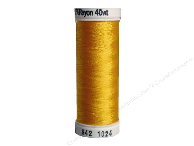 Sulky Rayon Thread 40 wt. 250 yd. #1024 Goldenrod