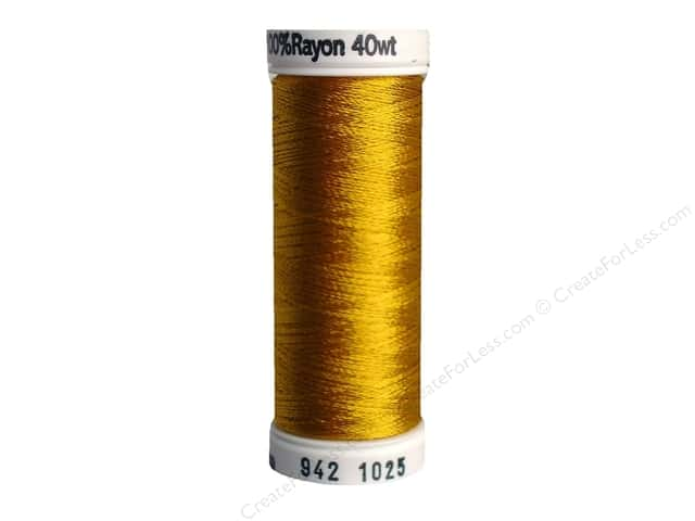 Sulky Rayon Thread 40 wt. 250 yd. #1025 Mine Gold