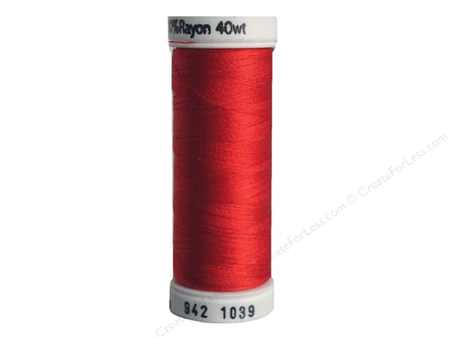Sulky Rayon Thread 40 wt. 250 yd. #1039 True Red