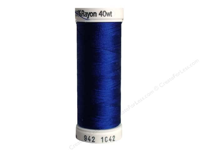 Sulky Rayon Thread 40 wt. 250 yd. #1042 Bright Navy Blue