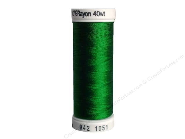Sulky Rayon Thread 40 wt. 250 yd. #1051 Xmas Green