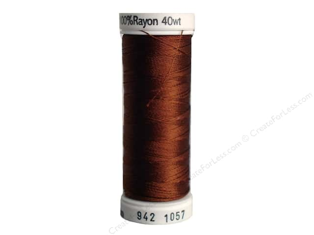 Sulky Rayon Thread 40 wt. 250 yd. #1057 Dark Tawny Tan