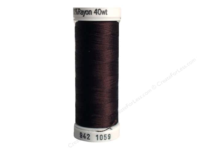 Sulky Rayon Thread 40 wt. 250 yd. #1059 Dark Tawny Brown