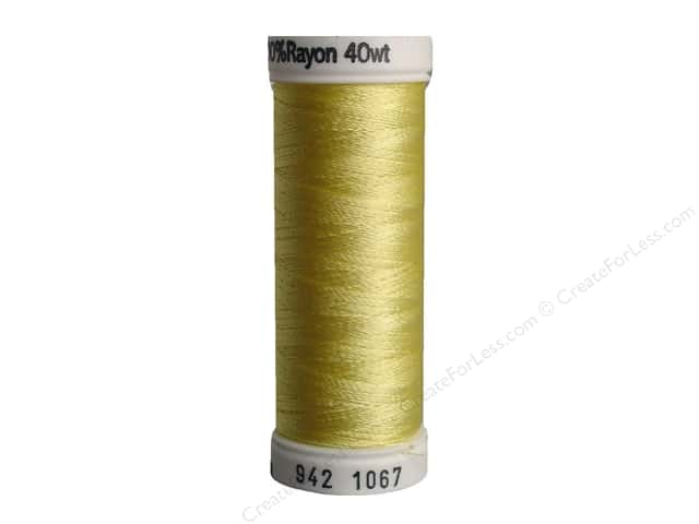 Sulky Rayon Thread 40 wt. 250 yd. #1067 Lemon Yellow