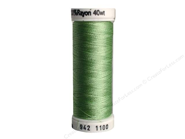 Sulky Rayon Thread 40 wt. 250 yd. #1100 Light Grass Green