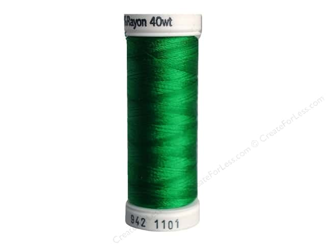 Sulky Rayon Thread 40 wt. 250 yd. #1101 True Green