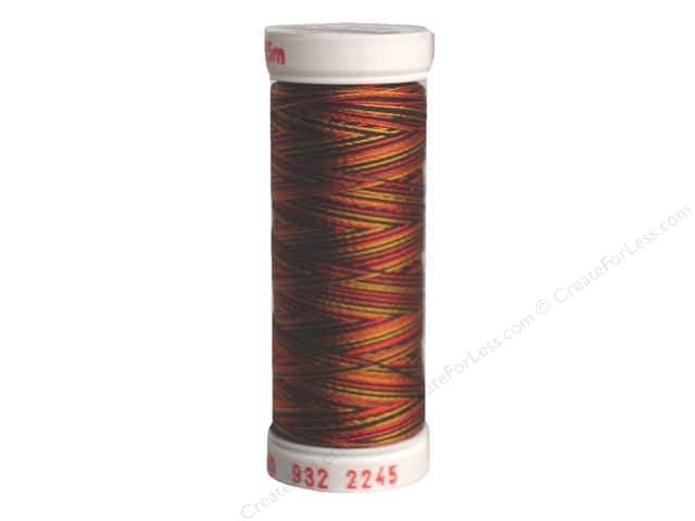Sulky Rayon Thread 30 wt. 180 yd. #2245 Old Gold/Black/Red