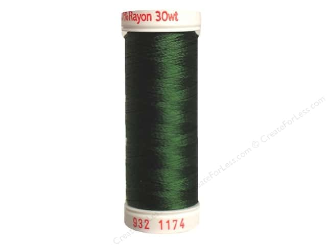 Sulky Rayon Thread 30 wt. 180 yd. #1174 Dark Pine Green