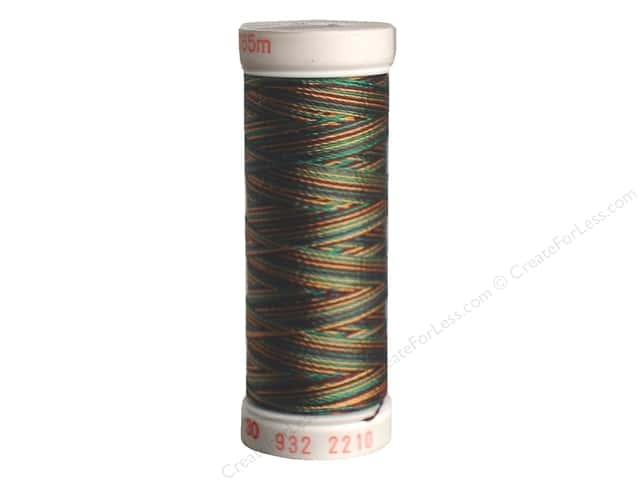 Sulky Rayon Thread 30 wt. 180 yd. #2210 Dark Green/Brown/Burgundy/Light Brown