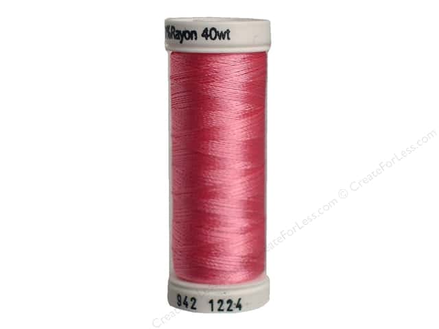 Sulky Rayon Thread 40 wt. 250 yd. #1224 Bright Pink