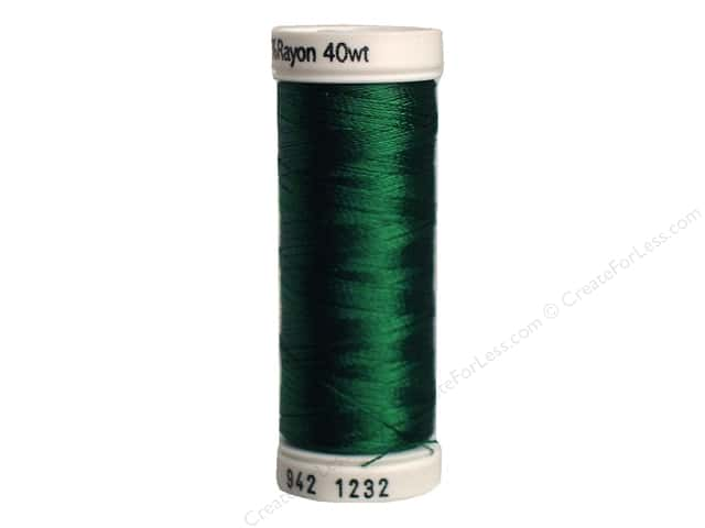 Sulky Rayon Thread 40 wt. 250 yd. #1232 Classic Green