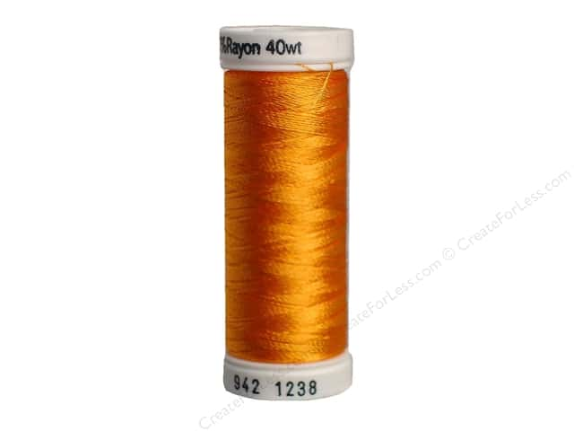 Sulky Rayon Thread 40 wt. 250 yd. #1238 Orange Sunrise