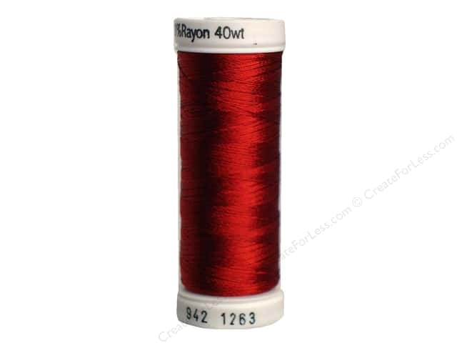 Sulky Rayon Thread 40 wt. 250 yd. #1263 Red Jubilee