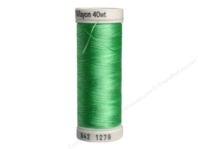 Sulky Rayon Thread 40 wt. 250 yd. #1279 Willow Green