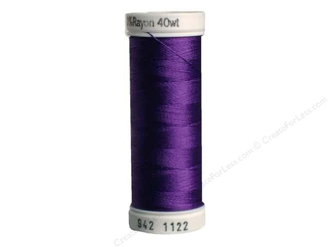 Sulky Rayon Thread 40 wt. 250 yd. #1122 Purple