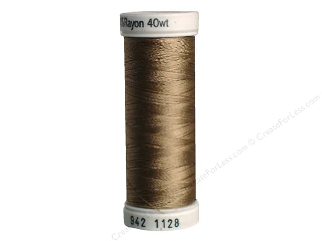 Sulky Rayon Thread 40 wt. 250 yd. #1128 Dark Ecru