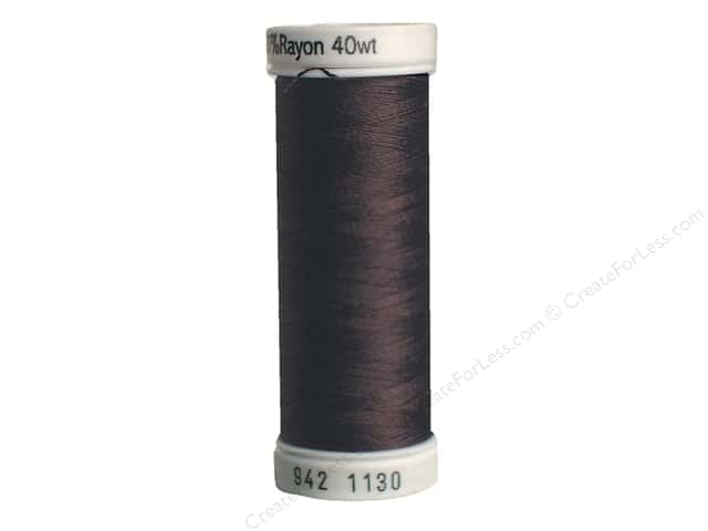 Sulky Rayon Thread 40 wt. 250 yd. #1130 Dark Brown