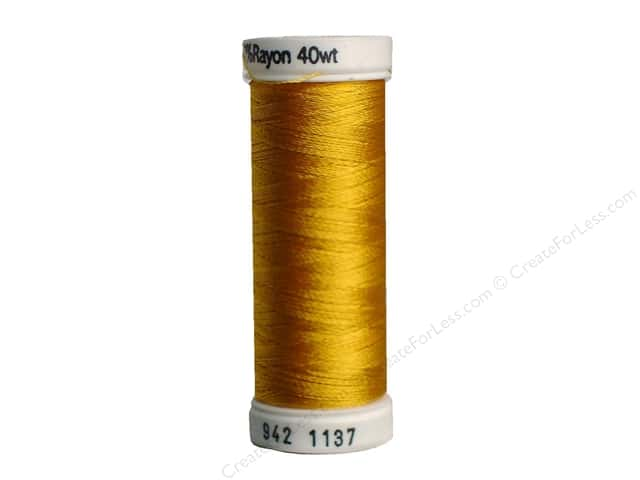 Sulky Rayon Thread 40 wt. 250 yd. #1137 Yellow Orange