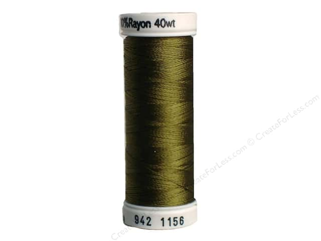 Sulky Rayon Thread 40 wt. 250 yd. #1156 Light Army Green