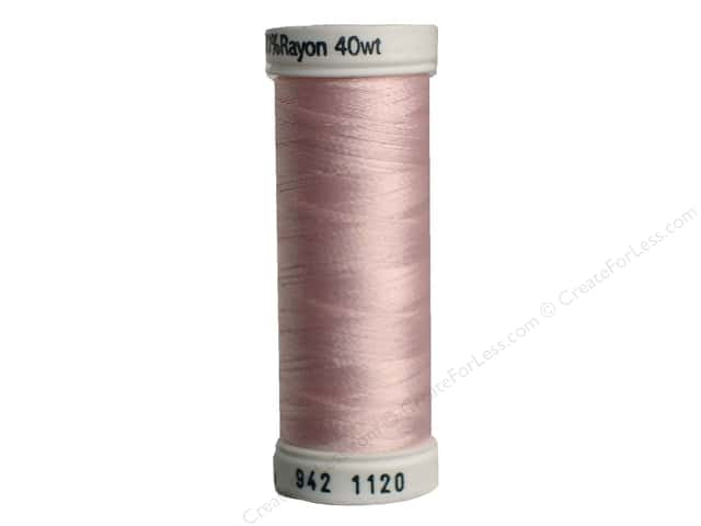 Sulky Rayon Thread 40 wt. 250 yd. #1120 Pale Pink