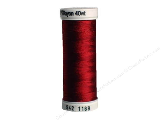 Sulky Rayon Thread 40 wt. 250 yd. #1169 Bayberry Red