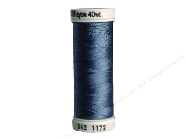 Sulky Rayon Thread 40 wt. 250 yd. #1172 Medium Weathered Blue