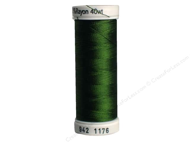 Sulky Rayon Thread 40 wt. 250 yd. #1176 Medium Dark Avocado