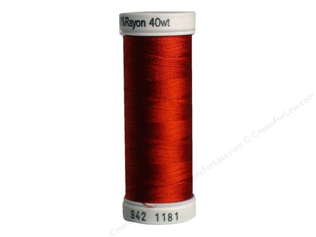 Sulky Rayon Thread 40 wt. 250 yd. #1181 Rust