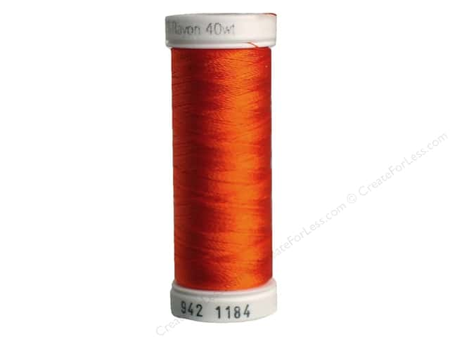 Sulky Rayon Thread 40 wt. 250 yd. #1184 Orange Red