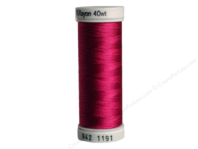 Sulky Rayon Thread 40 wt. 250 yd. #1191 Dark Rose