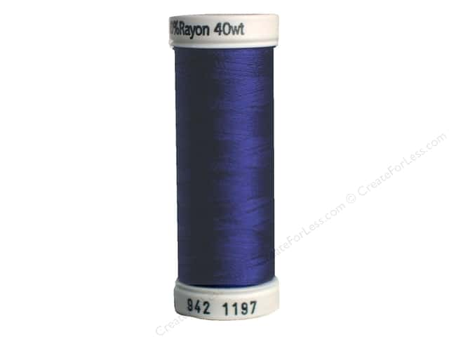 Sulky Rayon Thread 40 wt. 250 yd. #1197 Medium Navy