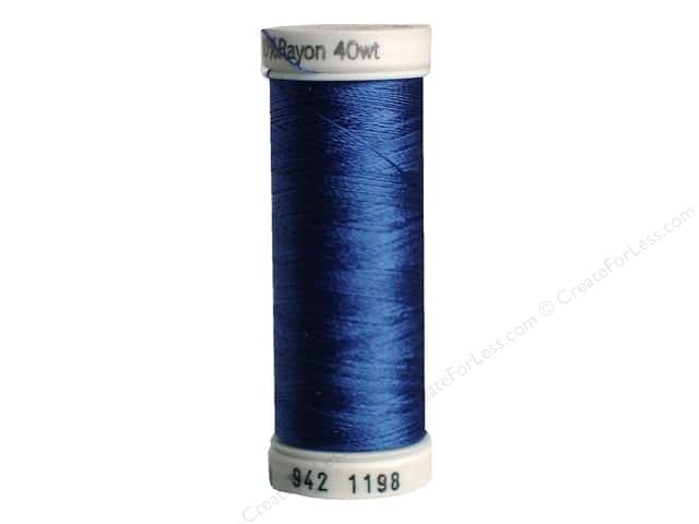 Sulky Rayon Thread 40 wt. 250 yd. #1198 Dusty Navy
