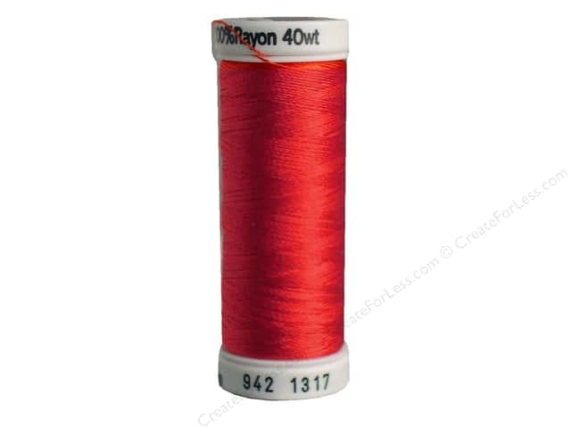 Sulky Rayon Thread 40 wt. 250 yd. #1317 Poppy Red