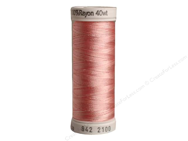 Sulky Rayon Thread 40 wt. 250 yd. #2100 Pastel Pinks