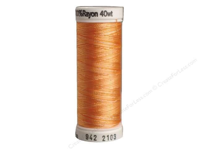 Sulky Rayon Thread 40 wt. 250 yd. #2103 Oranges