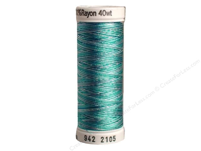 Sulky Rayon Thread 40 wt. 250 yd. #2105 Teal Blues