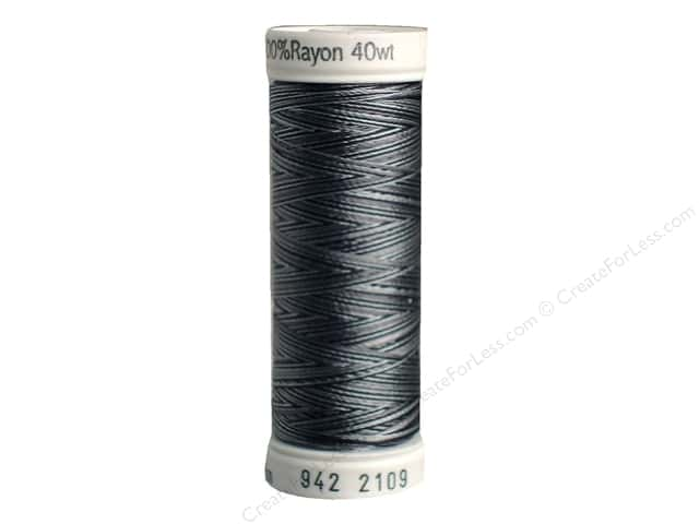Sulky Rayon Thread 40 wt. 250 yd. #2109 Greys/Blacks