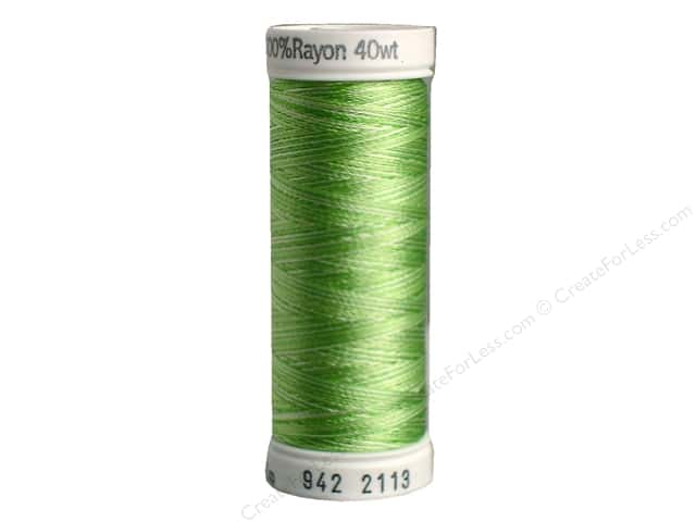 Sulky Rayon Thread 40 wt. 250 yd. #2113 Bright Greens