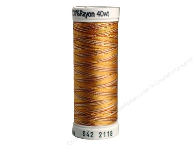 Sulky Rayon Thread 40 wt. 250 yd. #2118 Medium Browns