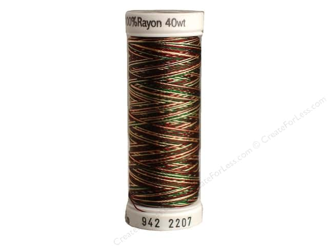 Sulky Rayon Thread 40 wt. 250 yd. #2207 Green/Burgundy/Tan