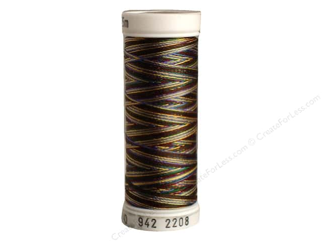 Sulky Rayon Thread 40 wt. 250 yd. #2208 Burgundy/Green/Blue/Tan