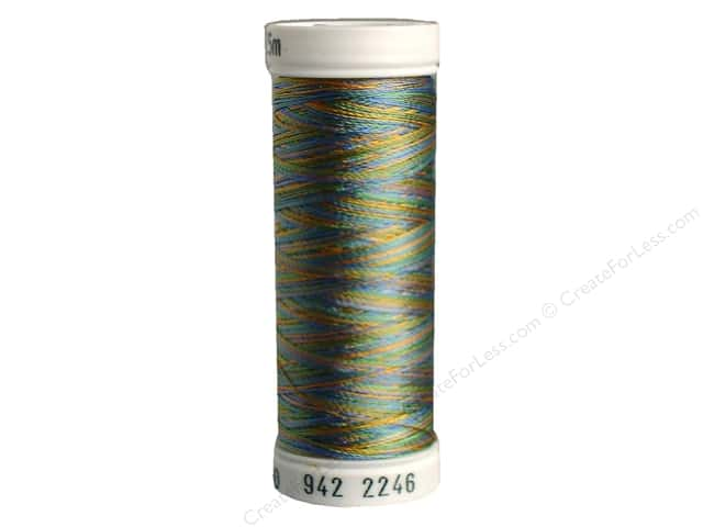 Sulky Rayon Thread 40 wt. 250 yd. #2246 Medium Green/Blue/Tan