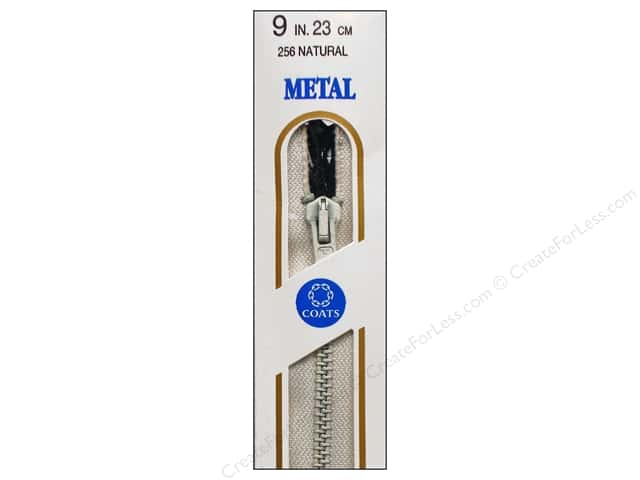 Coats Metal All Purpose Zipper 9 in. Natural