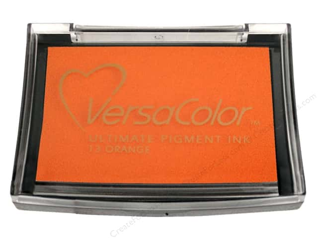 Tsukineko VersaColor Large Pigment Ink Stamp Pad Orange