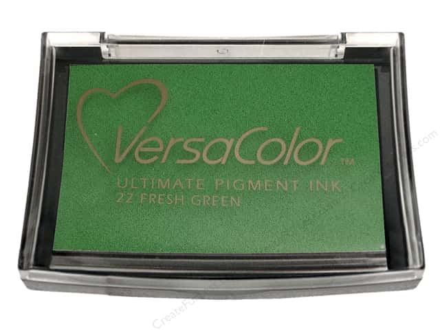 Tsukineko VersaColor Large Pigment Ink Stamp Pad Fresh Green