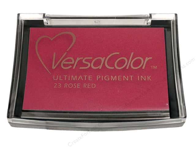 Tsukineko VersaColor Large Pigment Ink Stamp Pad Rose Red